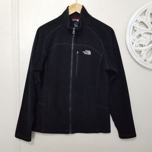 The north face size M full zip fleece sweater